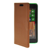 MOONCASE Slim Leather Flip Wallet Card Pouch with Kickstand Shell Back ЧЕХОЛДЛЯ Nokia Lumia 630 Brown синий slim robot armor kickstand ударопрочный жесткий корпус из прочной резины для vivo x9plus
