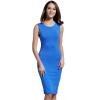 POPBASIC Женская Классический шею рукавов Тонкий Оборудованная Bodycon Карандаш платье