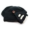 Vanker Женщины Мужчины вязаный шерстяной Weave крючком шлем Cap Hat ветрозащитный маска для лица шапочки