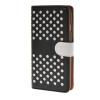 все цены на  MOONCASE горошек Слот карты Кожаный чехол Чехол Подставка Shell чехол для Apple IPhone 6 (4,7 дюйма) Черный белый  онлайн