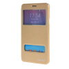 MOONCASE Samsung Galaxy Note 4 чехол для View Slim Leather Flip Pouch Bracket Back Cover Gold