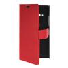 MOONCASE Slim Leather Side Flip Wallet Card Slot Pouch with Kickstand Shell Back чехол для Nokia Lumia 730 Red синий slim robot armor kickstand ударопрочный жесткий корпус из прочной резины для vivo x9plus