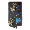 MOONCASE Rhinestone Crystal Ultre Slim Leather Side Flip Wallet Shell Back ЧЕХОЛДЛЯ Sony Xperia Z1 Compact (Mini) Black sony dk31 для xperia z1 black купить