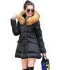 Новый Утолщенный Женщины Длинные Вниз Хлопка Мягкие Стеганые Куртки С Капюшоном Пальто И Пиджаки