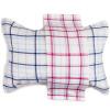 Санли чистого хлопка марля плед серии подушку пару AB версии плюсы и минусы мягкий и удобный дышащий смешанный цвет 2 76 × 52 см синий + Цянь цвет