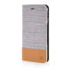 MOONCASE Canvas Design Leather Side Flip Wallet Stand Shell Back ЧЕХОЛ ДЛЯ Apple iPhone 6 Plus ( 5.5 inch ) Light Brown leather wallet stand shell for iphone 6s plus 6 plus do not touch my phone