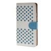 MOONCASE горошек Слот карты Кожаный чехол Чехол Подставка Shell чехол для Apple IPhone 6 Plus (5,5 дюйма) белый синий для iphone 6 роскошь телефон чехол для apple iphone 6 чехол мягкий алмаз клетка узор дизайн celular крышки раковина капа 4 7 дюйма