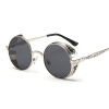 FEIDU мода Steampunk Goggles Sunglasses Women Men Brand Designer ретро Side Visor Sun Round Glasses Women Gafas Oculos De Sol  цена