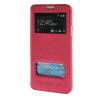 MOONCASE Samsung Galaxy A3 чехол для View Leather Flip Pouch Bracket Back Cover Hot pink