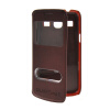 MOONCASE View Window Leather Side Flip Pouch Shell Back ЧЕХОЛДЛЯ Samsung Galaxy Core Plus G3500 / Trend 3 G3502 Red