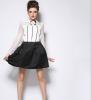 Lovaru ™ 2015 Весной и летом горячая новая цветом простой юбка в складку завод прямой моды диких printio юбка в складку