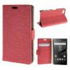 MOONCASE ЧЕХОЛДЛЯ Sony Xperia Z5 Compact ( Z5 Mini ) Denim Design Flip Folio Wallet Card Slot Stand Hot pink 01 luxury stand flip