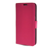 MOONCASE High quality Leather Side Flip Card Slot Pouch Stand Shell Back ЧЕХОЛДЛЯ Samsung Galaxy Grand 2 G7106 Hot pink