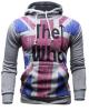 Mooncolour Мужская мода, Кто Флаг Великобритании Толстовка Толстовка с капюшоном пиджаки