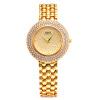 Мода кварцевые часы горный хрусталь платье Женщины Orologio Часы Lady горный хрусталь браслет Наручные часы с платье сталь Ремешок G & D201506