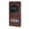MOONCASE Huawei Ascend P8 Lite чехол Double Window View Leather Flip Bracket Back чехол Cover wine 01 mooncase чехол для huawei ascend p8 lite view window leather flip bracket back cover wine 01