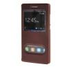 все цены на MOONCASE Huawei Ascend P8 Lite чехол Double Window View Leather Flip Bracket Back чехол Cover wine 01