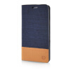 MOONCASE Canvas Design Leather Side Flip Wallet Pouch Stand Shell Back ЧЕХОЛ ДЛЯ Samsung Galaxy A3 Dark Blue luxury stand flip