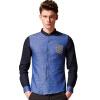 Мэн Траск (шведские кроны) CS3311 с длинными рукавами рубашки мужской моды волна точкой сшивание темно синяя рубашка XXL liebherr cuwb 3311