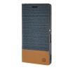 MOONCASE Sony Xperia Z4 чехол Холст ткани кожи бумажника Слот для карты флип кронштейн задней стороны обложки синий чехол вертикальный откидной для sony xperia t3 синий armorjacket