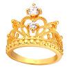 U7 люкс Crown Кольца для женщин Модные 18K Gold Plated / Платина кубического циркония обручальные / Обручальные кольца Кольца Promise