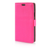 MOONCASE Litch Skin Leather Side Flip Card Slot Pouch Stand Shell Back ЧЕХОЛДЛЯ LG Tribute / LG Optimus F60 Hot pink pink lovers and dandelion style embossing classic flip cover with stand function and credit card slot for lg k10