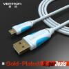 Vention микрофон USB кабель мобильный телефон зарядный кабель для Samsung galaxy S3 S4 S5 HTC Андроид телефон телефон
