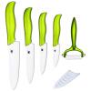 5 ножей керамические ножи 3 дюйма кожура 4 дюйма полезности 5 дюймов нарезки 6 дюймов нож шеф-повара + Овощечистка кухонные ножи комплект горячей продажи китель шеф повара москва