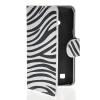 MOONCASE Zebra style Leather Side Flip Wallet Card Slot Stand Pouch чехол для LG L50