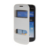 MOONCASE View Window Leather Side Flip Pouch Stand Shell Back ЧЕХОЛ ДЛЯ Samsung Galaxy S Duos S7562 White mooncase view window leather side flip pouch stand shell back чехол для samsung galaxy s duos s7562 white