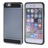 MOONCASE ЧЕХОЛ ДЛЯ iPhone 6 / 6S (4.7) Soft Silicone Gel TPU Skin With Card Holder Protective Grey чехол для iphone interstep для iphone x soft t metal adv красный