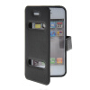 MOONCASE View Window Leather Side Flip Pouch Stand Shell Back ЧЕХОЛ ДЛЯ Apple iPhone 4 / 4S Black  g case view window leather flip stand shell for iphone 7 with touch slide button black
