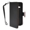 MOONCASE Лич кожи Кожа держатель карты бумажник чехол с Kickstand чехол для HTC One 2 Mini (M8 Mini) Черный