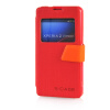MOONCASE View Window Leather Side Flip Pouch Ultra Slim Shell Back ЧЕХОЛ ДЛЯ Sony Xperia Z1 Compact (Z1 Mini ) Red смартфон sony xperia xa1 ultra dual