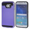 MOONCASE ЧЕХОЛДЛЯ Samsung Galaxy S6 Soft Silicone Gel TPU Skin With Card Holder Protective Purple