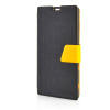 MOONCASE Leather Side Flip Pouch Stand Ultra Slim Shell Back ЧЕХОЛ ДЛЯ Sony Xperia T3 Black