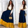 Lovaru ™ 2015 летний тип женщины моды платье макси с длинными рукавами отложным воротником высокое качество Мягкие и удобные платья
