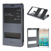 MOONCASE Huawei Honor 7i ЧЕХОЛДЛЯ Premium PU Leather Pouch Flip Grey смартфоны huawei y5 2017 grey