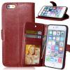 MOONCASE чехол для Apple, iPhone 4/4S/ 5/5S 6/6s /6 Plus/ 6s Plus Фолио Флип Слот кожаный бумажник карты и складная подставка Feature крышки мешка