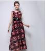 Lovaru ™печатных шифона платье ретро станции Европа 2015 летом новый тонкий тонкий платье без рукавов europa европа фотографии жорди бернадо
