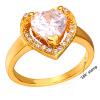 У7 обручальные кольца для женщин, Свадебные 2015 Оптовая 18k позолоченный кубического циркония ААА любви сердце кольца обручальные кольца