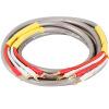 Акихабара (CHOSEAL) аудио кабель провод аудио кабель громкоговорителя стерео колонки жильный кабель с вилкой (в форме банана головки -U) 2,5 м QS203AT2D5