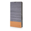 MOONCASE Canvas Design Leather Side Flip Wallet Pouch Stand Shell Back ЧЕХОЛ ДЛЯ Sony Xperia T3 Dark Brown sony xperia t3