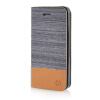 MOONCASE Canvas Design Leather Side Flip Wallet Pouch Stand Shell Back ЧЕХОЛДЛЯ Apple iPhone 5 / 5S Dark Brown musubo magnetic split leather wallet stand shell for iphone se 5s 5 blue
