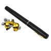 Мини Портативный карманный Pen Форма алюминиевого сплава Рыба удочка полюс + катушка