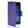 MOONCASE Classic cross pattern Leather Side Flip Wallet Card Pouch Stand Soft Shell Back чехол для Sony Xperia M2 Purple sony xperia m в спб purple