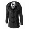 Zogaa новые мужчины, шерстяные пальто тонкой рог кнопку zar последней покупки аутентичных hoodie рог кнопку сукна жакет воротником 1255 204