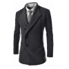 CT&HF Мужчины с длинным рукавом лацканы пальто средней длины Мода Досуг контракту Темперамент пальто Зимние Элегантный Шерстяной пальто пальто