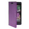 MOONCASE Slim Leather Flip Wallet Card Pouch with Kickstand Shell Back ЧЕХОЛДЛЯ HTC Desire 610 Purple синий slim robot armor kickstand ударопрочный жесткий корпус из прочной резины для vivo x9plus