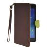 MOONCASE Лич кожи Кожа Флип сторона кошелек держателя карты Чехол с Kickstand чехол для Sony Xperia Z2 Браун